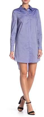 Milly Pleated Hi-Lo Shirt Dress