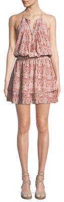 Joie Jossa Snake-Print Georgette Mini Dress
