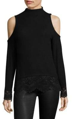 Generation Love Louisa Lace Mockneck Top