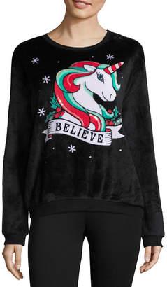 Hybrid Tees Fuzzy Ugly Christmas Sweatshirt-Juniors