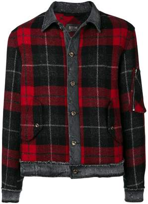 Overcome check pattern jacket
