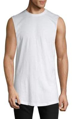 Cut-Off Cotton Tank Top