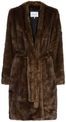 Frame faux mink robe