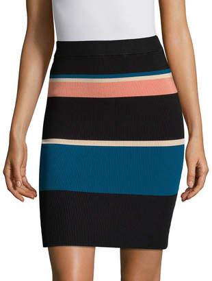 Arc Roby Stripe Body Con Skirt