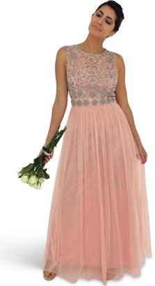 5e3def70d3cb Pink Embellished Maxi Dress - ShopStyle UK
