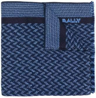 Bally logo knitted scarf