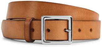 Reiss JASON LEATHER CASUAL BELT Black/tan