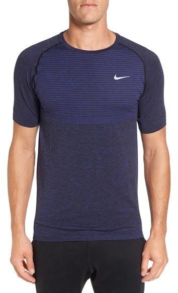 Men's Nike Slim Fit Knit Trim Dri-Fit Running T-Shirt