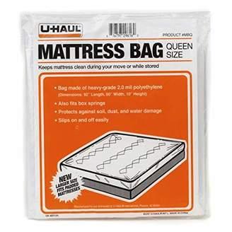 "U-Haul Queen Mattress Bag - 92"" x 60"" x 10"" - 2.0 Mil"