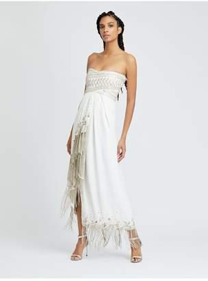 Oscar de la Renta Embroidered Cady Pesante Gown