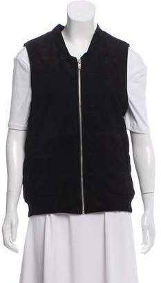 Diane von Furstenberg AS BY Suede Zip-Up Vest