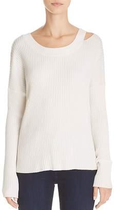 Aqua Cold-Shoulder Rib-Knit Sweater - 100% Exclusive