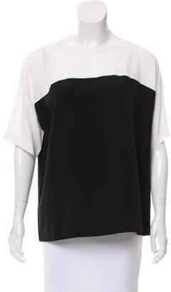 Vince Short Sleeve Silk Top