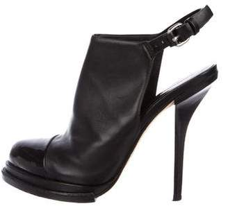 Alexander Wang Leather Ankle-Strap Booties