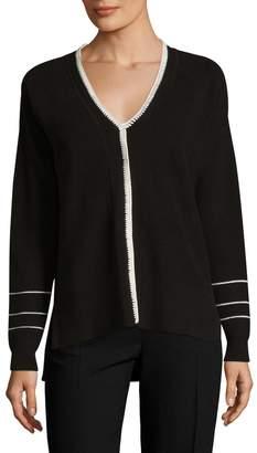 Derek Lam 10 Crosby Women's Blanket Stitch Cotton Sweater