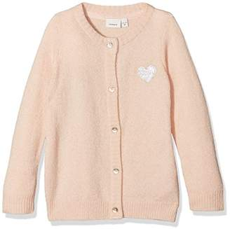 Name It Baby Girls' Nitdinoma Ls Knit Card F Mini Cardigan