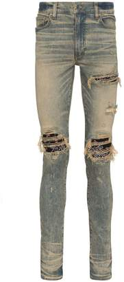 Amiri MX1 bandana skinny jeans