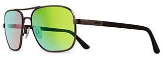 Revo Freeman RE 1012 02 GN Polarized Rectangular Sunglasses