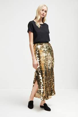 French Connenction Emilia Sequin Jersey Midi Skirt