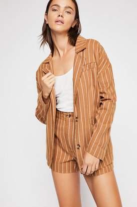 Striped Blazer Short Set