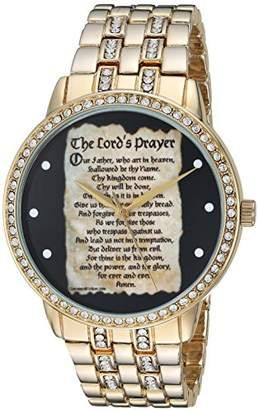 EWatchFactory EW Men's Lords Prayer' Quartz Metal and Alloy Casual Watch