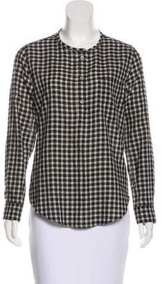 Etoile Isabel Marant Gingham Long Sleeve Top