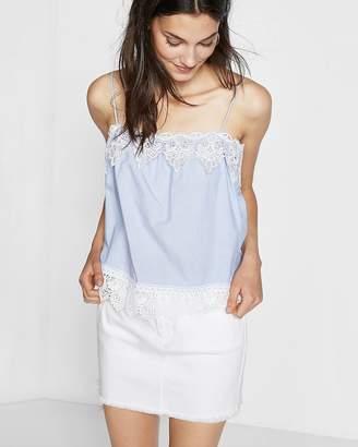 Express Lace Trim Cotton Poplin Cami