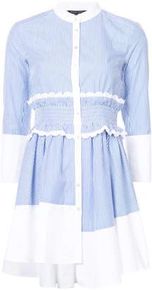 Marissa Webb pinstripe asymmetric shirt dress