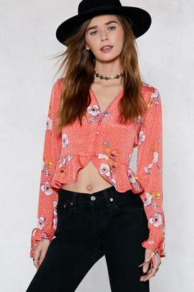 Nasty Gal Leaf It At That Floral Top