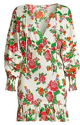 Rhode Resort Women's Anya Shirred Floral Mini Dress