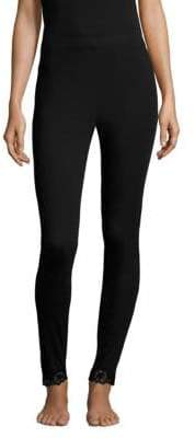 Natori Lace Trim Leggings