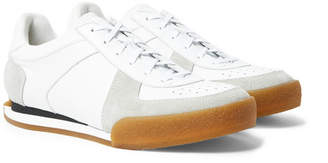 Givenchy Set3 Full-Grain Leather and Suede Sneakers - White