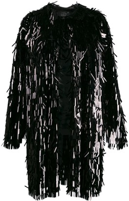 Norma Kamali all-over sequin trench coat