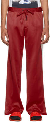 Versace Red and White Side Band Track Pants