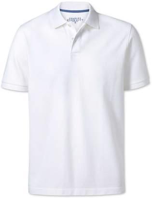 Charles Tyrwhitt White Pique Cotton Polo Size Large