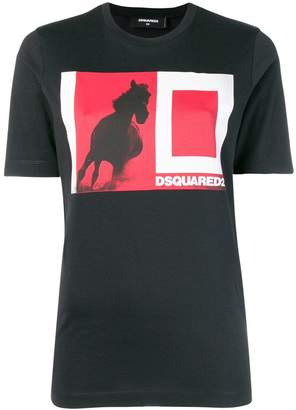 DSQUARED2 colour-block logo T-shirt