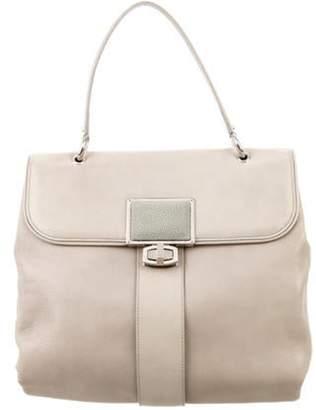 Balenciaga Stingray-Accented Leather Handle Bag Tan Stingray-Accented Leather Handle Bag