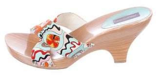 Emilio Pucci Woven Slide Sandals