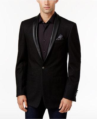 Tallia Men's Big & Tall Slim-Fit Black Sport Coat $375 thestylecure.com