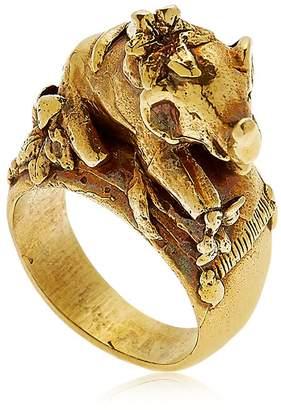 Montevertine Decori Elephant With Lily Ring