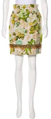 Dolce & Gabbana Embellished Knee-Length Skirt