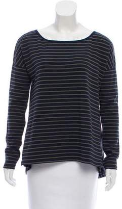 White + Warren Oversize Striped Top