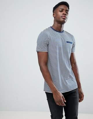 Ted Baker Stripe T-Shirt In Navy Stripe