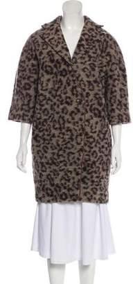 Thakoon Animal Patterned Knee-Length Coat