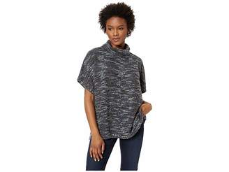 Mod-o-doc Boucle Slouchy Funnel Neck Short Sleeve Pullover