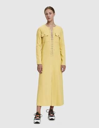 Maryam Nassir Zadeh Loom Lace-Up Dress