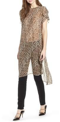 Vince Camuto Animal Print Shirttail Tunic