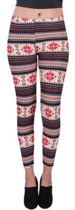Aerusi AERUSI Women's Four Points Design Full Length Stretchy Leggings