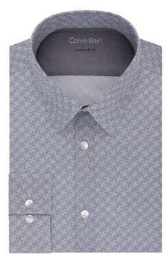 Calvin Klein Extra Slim-Fit Chevron Dress Shirt