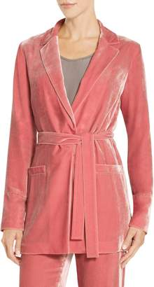 St. John Sport Rayon Silk Velvet Belted Jacket